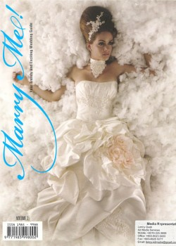 Pretty In White was featured in Marry Me! Volume 2, in the year 2009. We were very surprised to have found a magazine called Marry Me! and gleefully went ahead to collaborate with such a young, vibrant production together with TSL Jewelry, a premier creator of fine jewelry.